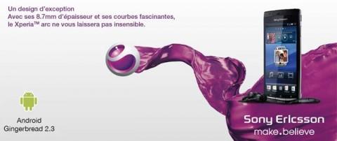 Sony Ericsson Xpéria Arc: Tout le savoir faire de Sony