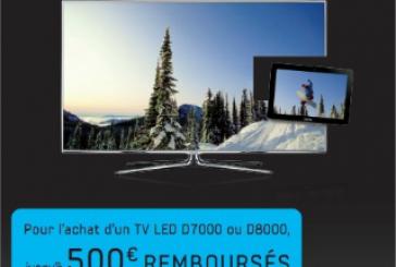 500 € pour votre tablette Galaxy Tab en achetant une TV Samsung