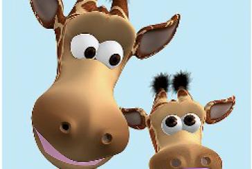 Gina la girafe qui parle : après Tom le chat et Ben le chien