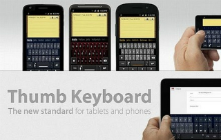 Thumb Keyboard: Un clavier virtuel pour mobile et tablette!