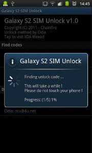 Galaxy S2 SIM Unlock d