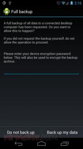 sauvegarder toutes vos données sous Android 4.0 c