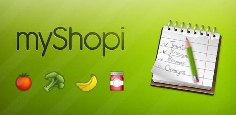 MYSHOPI: Gérez votre liste de course
