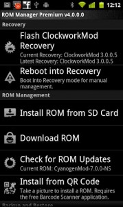 Rom Manager b