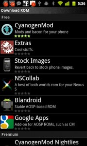 Rom Manager c