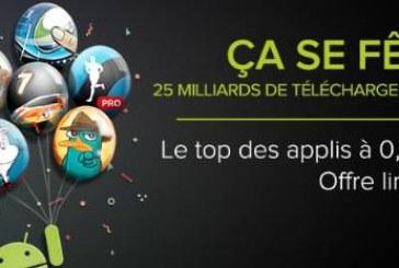 Les meilleures applis Android pour 0,25 euros pendant 5 jours !