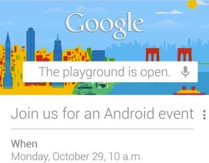 Read more about the article Le programme du Special Event Google : Nexus 10 pouces, Nexus 4 et Android 4.2!