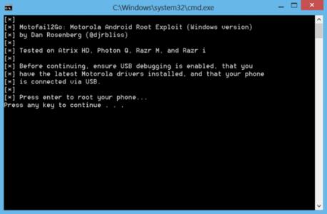 Rooter les Motorola Razr, Atrix et Photon Q très simplement 1