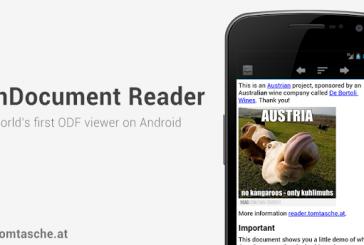OpenDocument Reader: Pour lire tous les docs Open Office