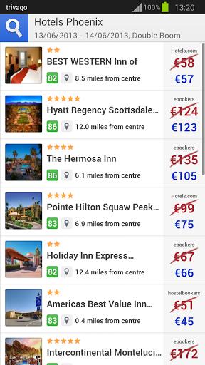 Trivago chercher l 39 h tel le moins cher sur android for Hotel chercher
