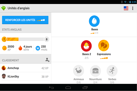 Duolingo Apprenez l'anglais efficacement C