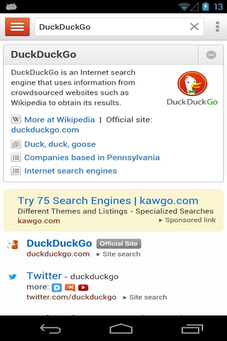 DuckDuckGo Search & Stories 2