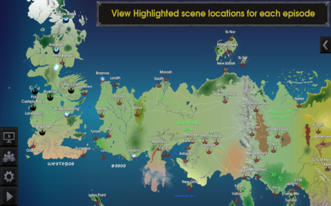 Map for Game of Thrones b