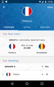 application officielle de l'Euro 2016 b