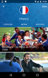 application officielle de l'Euro 2016 c