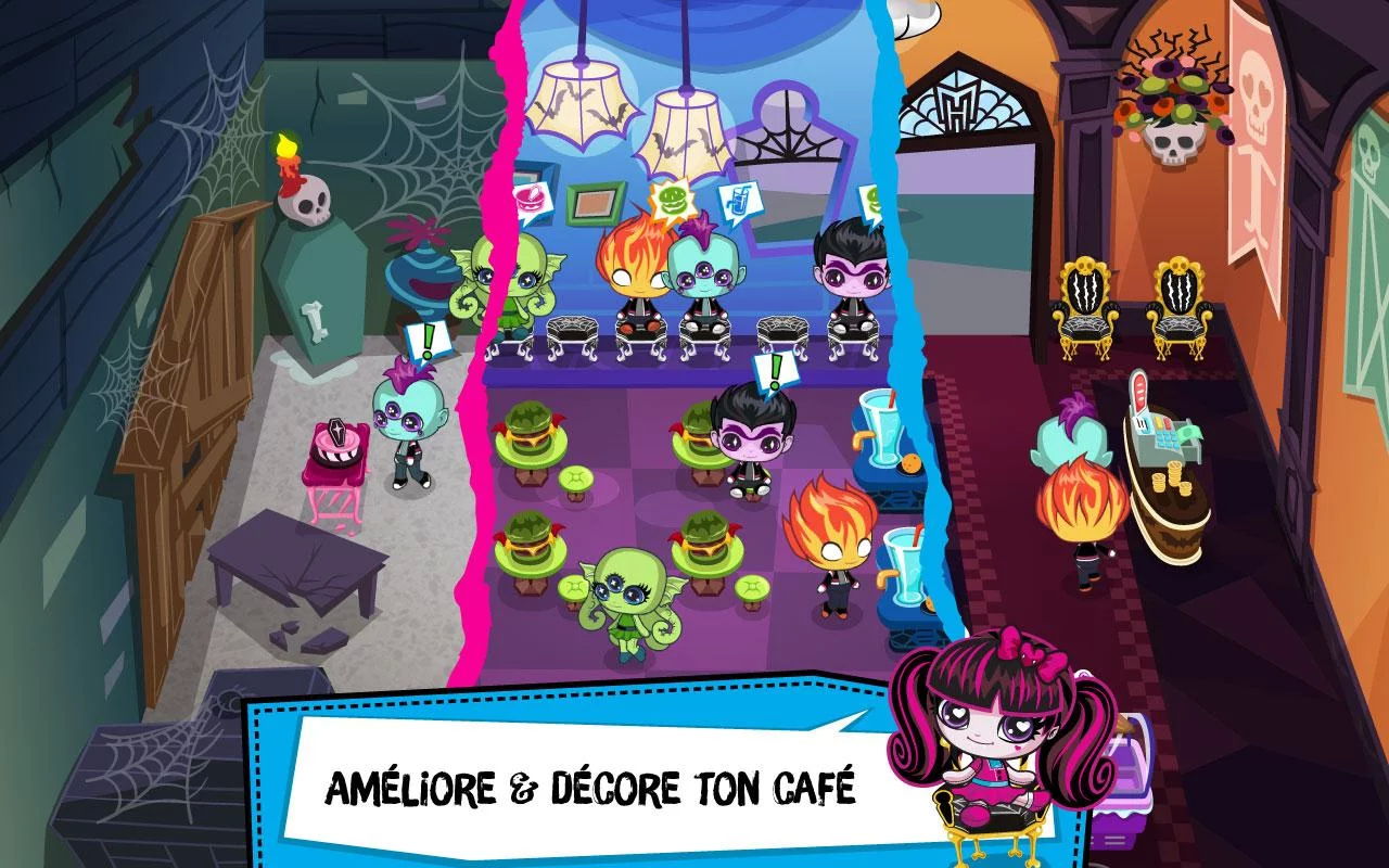 test du jeu monster high minis mania android zone. Black Bedroom Furniture Sets. Home Design Ideas