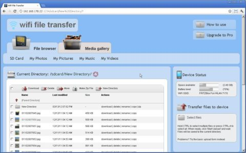 WiFi File Transfer c