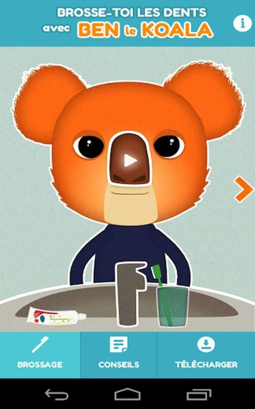 brosser les dents avec Ben koala b