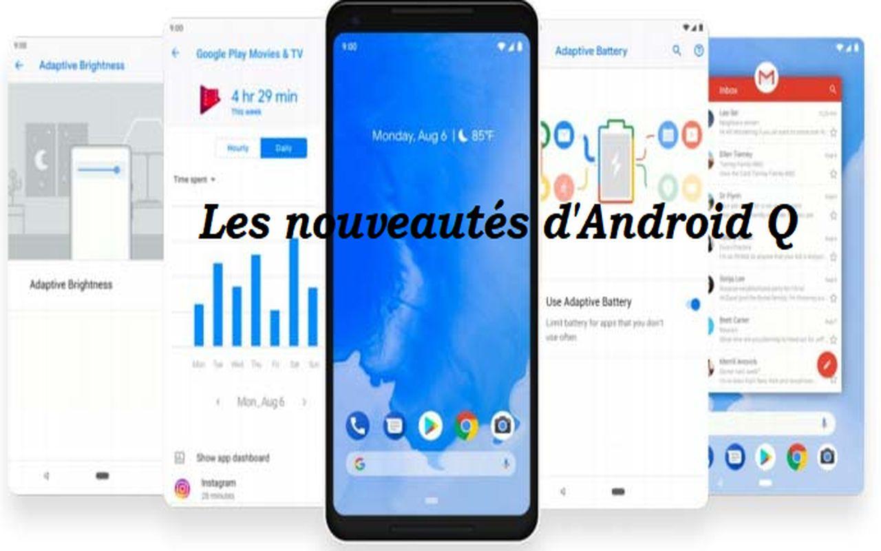 nouveautés d'Android Q b