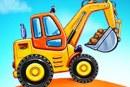 Construisez une maison, jeux de camions