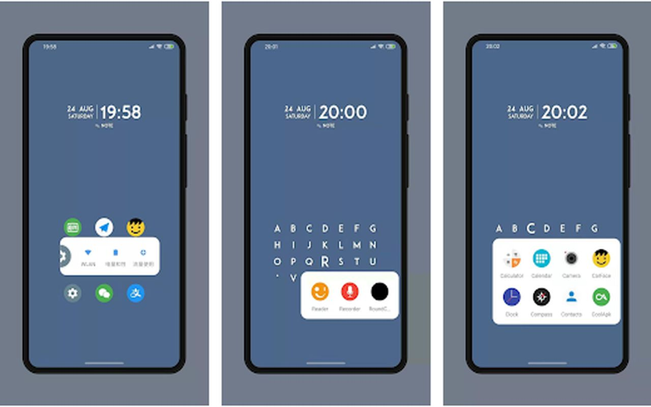 trois launchers Android 2021 d