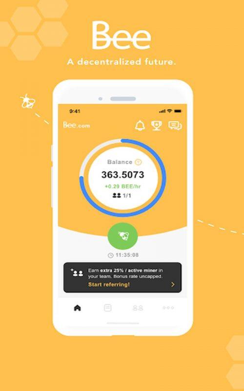 cryptos mobiles Bee Network b