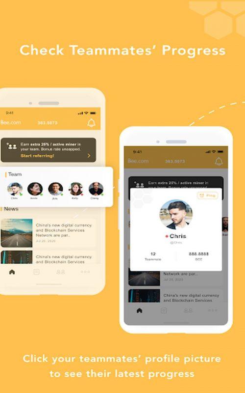 cryptos mobiles Bee Network c