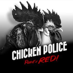 Test du jeu d'aventure Chicken Police Paint it RED!, en noir et blanc