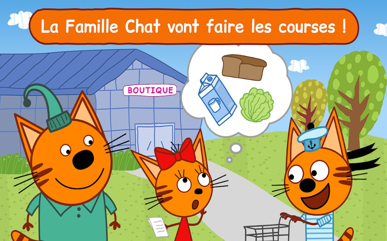 Famille Chat Jeu Magasin b